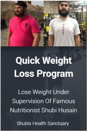 Shubi Husain Weight Loss