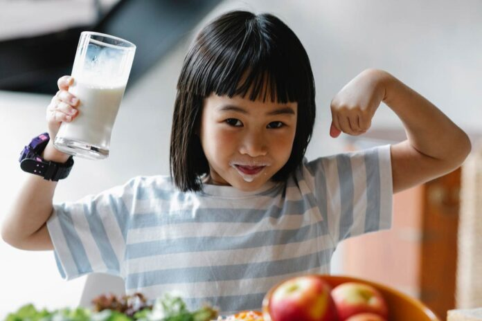 Fortified milk with Vitamins